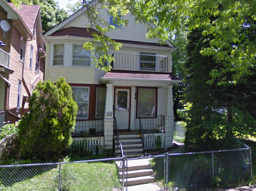 My childhood home which was haunted via google maps.