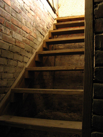 pretty close to what the basement stairs looked likecrossinthewilderness.blogspot.com