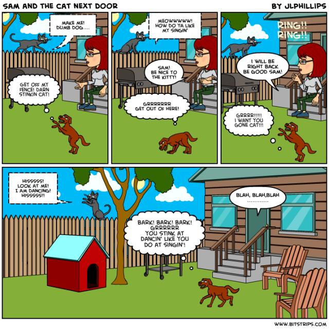 comics Sam and Me dog cat funnies funny