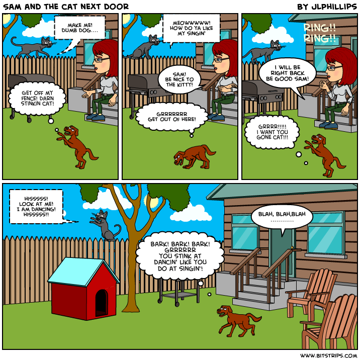 comics Sam and Me dog cat funnies funny