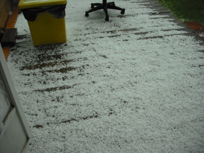 hail on my deck 7/5/13
