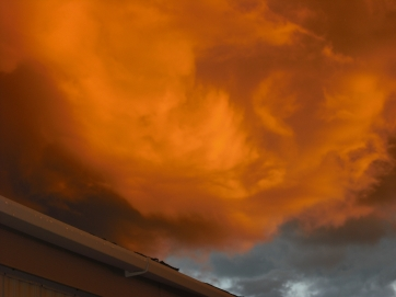(c) JLPhillips 2013 A storm cloud over the house.