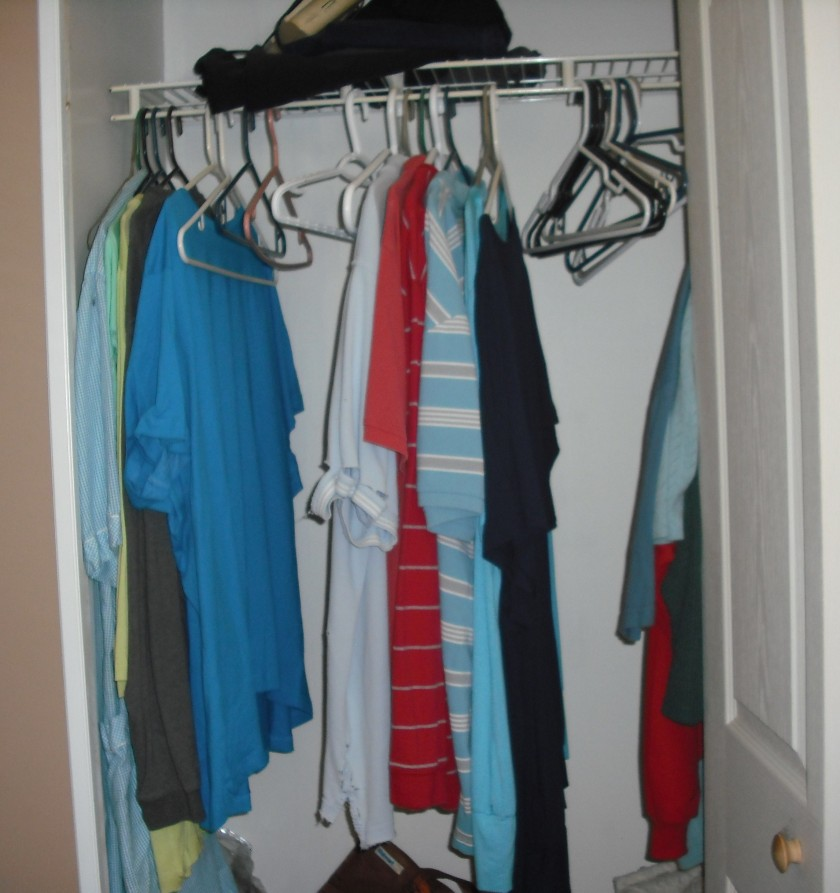 My closet, please ignore the really raggedy shirt. (c)JLPhillips 2013