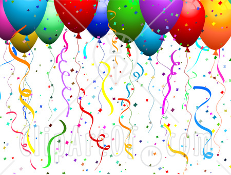 30183-Clipart-Illustration-Of-Colorful-Helium-Filled-Balloons-With-Confetti-And-Streamers-At-A-Party