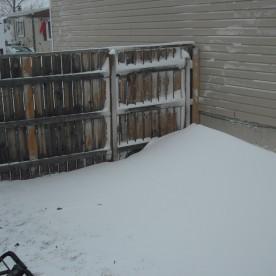 Blizzard snowbank 12/3/2013