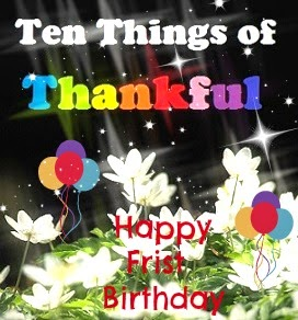 Ten Things of Thankful Birthday Banner