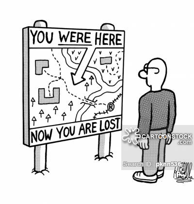 You were here, now you are lost.