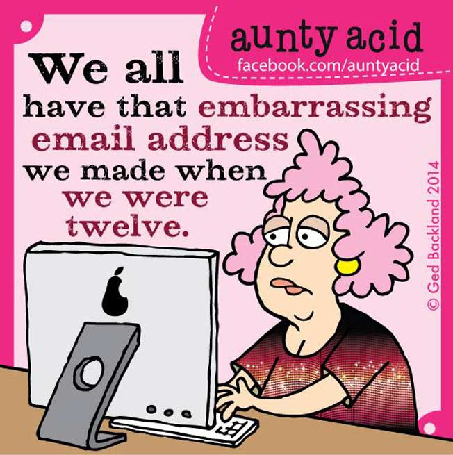 Do you remember your very first email address?
