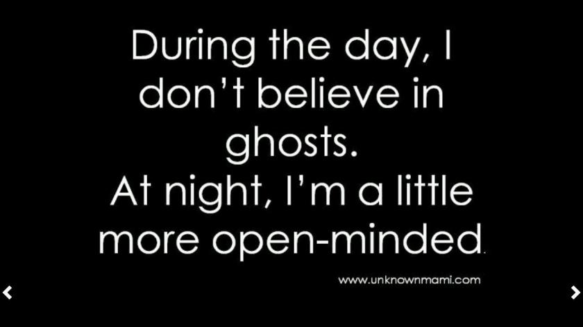 I actually believe in ghost all day and night! But, I thought this was funny. :)