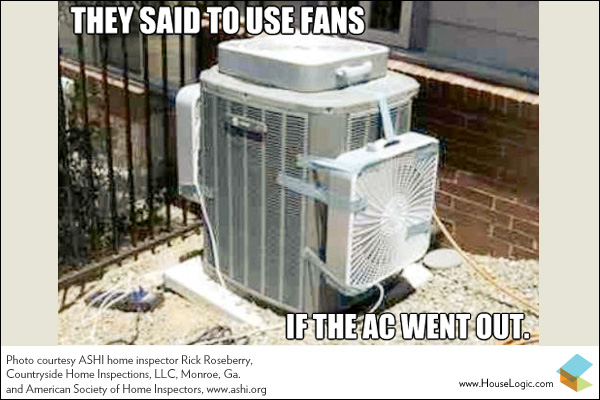 Well, they did say use the fans if the AC goes out!